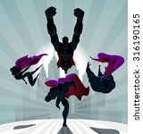 superhero team  team of... | Shutterstock .eps vector #316190165