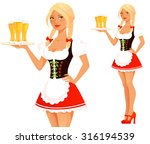 cute cartoon oktoberfest girl | Shutterstock .eps vector #316194539