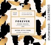 forever luxury vintage modern... | Shutterstock .eps vector #316198835