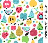 fruit seamless pattern. surface ... | Shutterstock .eps vector #316202039