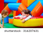 excited kids having fun on... | Shutterstock . vector #316207631