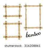 Yellow Bamboo Frames. Vector...