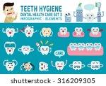teeth hygiene.dental health... | Shutterstock .eps vector #316209305