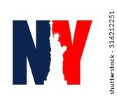 ny logo. new york logo. vector... | Shutterstock .eps vector #316212251
