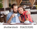 beautiful young loving couple... | Shutterstock . vector #316213181