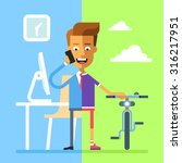 concept of work and life... | Shutterstock .eps vector #316217951