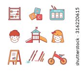 kindergarten education icons... | Shutterstock .eps vector #316220615