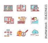 web and app development ... | Shutterstock .eps vector #316224611