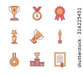 award winner icons thin line... | Shutterstock .eps vector #316225451
