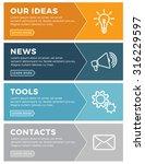 design concept for website... | Shutterstock .eps vector #316229597