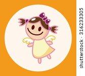 angel theme elements vector eps | Shutterstock .eps vector #316233305