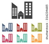 real estate icon | Shutterstock .eps vector #316234685