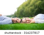 a couple walking in the hyde... | Shutterstock . vector #316237817
