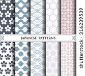 japanese vector pattern pattern ... | Shutterstock .eps vector #316239539