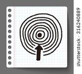 target doodle | Shutterstock .eps vector #316240889