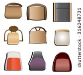 chairs top view set 5 for... | Shutterstock .eps vector #316248731