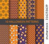 10 different halloween vector... | Shutterstock .eps vector #316253639