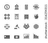 finance icons set | Shutterstock .eps vector #316254311