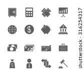 finance icons set   Shutterstock .eps vector #316254317