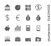finance icons set | Shutterstock .eps vector #316254335