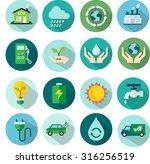 ecology vector flat icons set | Shutterstock .eps vector #316256519