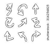 doodle arrows | Shutterstock .eps vector #316256825