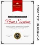 vector certificate template. | Shutterstock .eps vector #316260539