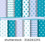 set of abstract vector paper... | Shutterstock .eps vector #316261241