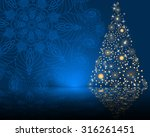 stylized vector christmas tree... | Shutterstock .eps vector #316261451