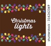 merry christmas concept with... | Shutterstock .eps vector #316262369