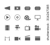 movie icons set  | Shutterstock .eps vector #316267385