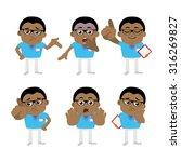 nursing staff  in different... | Shutterstock .eps vector #316269827