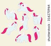 6 action of pegasus. pegasus...   Shutterstock .eps vector #316270964