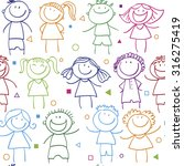 background cheerful children | Shutterstock .eps vector #316275419