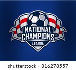 football logo template. vector... | Shutterstock .eps vector #316278557