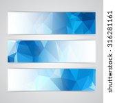 modern blue vector banner low... | Shutterstock .eps vector #316281161