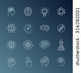vector linear icons and sign... | Shutterstock .eps vector #316282031