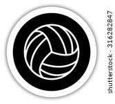 volleyball ball    vector icon | Shutterstock .eps vector #316282847