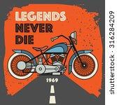 vintage motorcycle sport label... | Shutterstock .eps vector #316284209