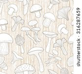 seamless pattern with mushrooms....   Shutterstock .eps vector #316287659