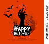 happy halloween design with... | Shutterstock .eps vector #316291034