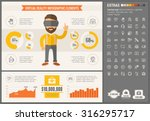 virtual reality infographic... | Shutterstock .eps vector #316295717
