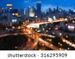 Blurred Bokeh Lights Of City...