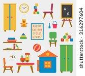 kindergarten preschool... | Shutterstock .eps vector #316297604