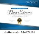 vector certificate template. | Shutterstock .eps vector #316299185