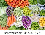 Farmers Market With Various...