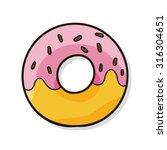 donut doodle   Shutterstock .eps vector #316304651
