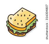 sandwich doodle | Shutterstock .eps vector #316304807