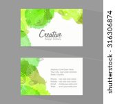 shiny horizontal business card... | Shutterstock .eps vector #316306874