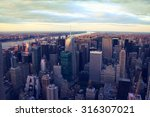 aerial image of new york city | Shutterstock . vector #316307021